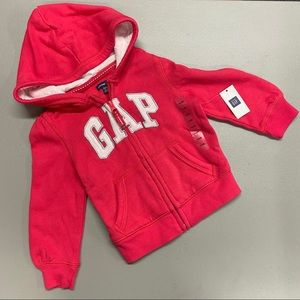 Baby Gap Hoodie Pink Full Zip Pockets Hooded Sweat